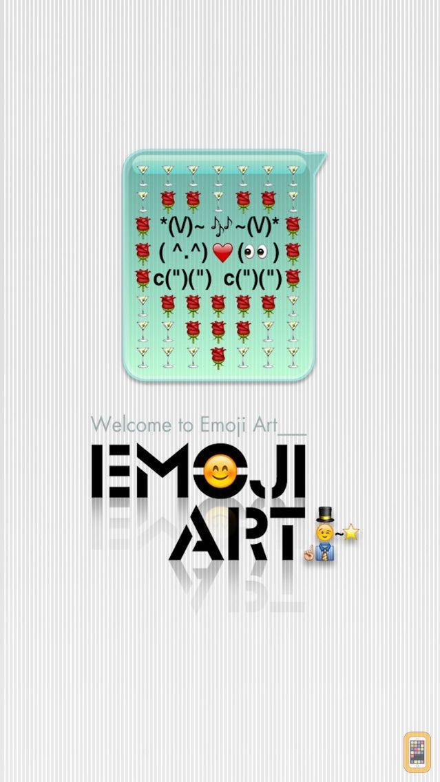 Screenshot - emoji 2 emoticon art free - premade MMS/SMS messages