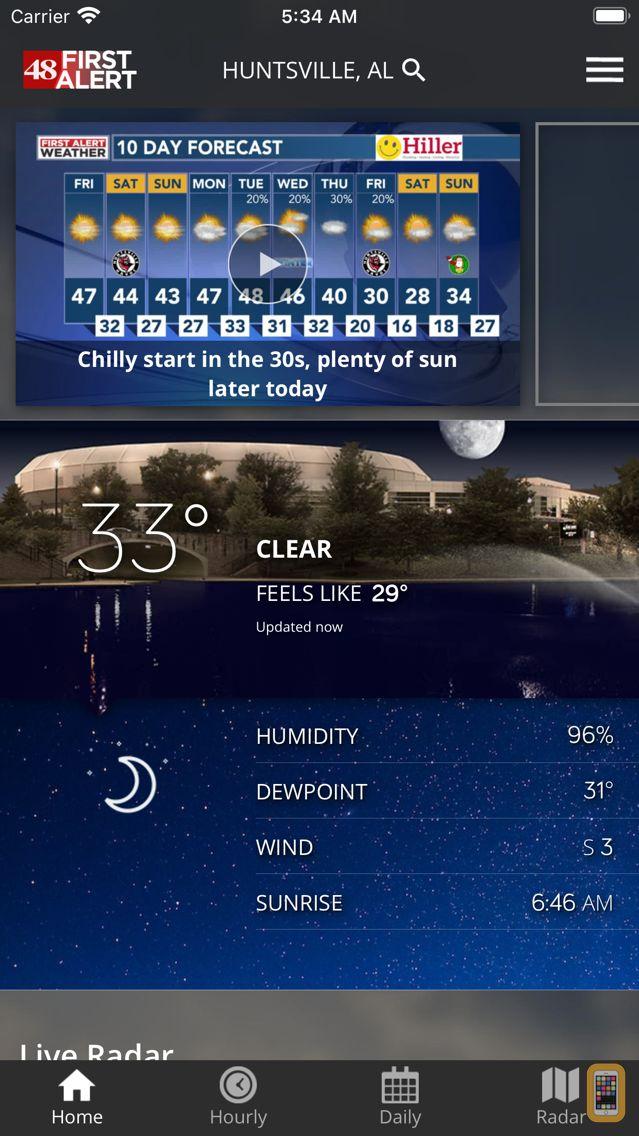Screenshot - WAFF 48 Storm Team Weather