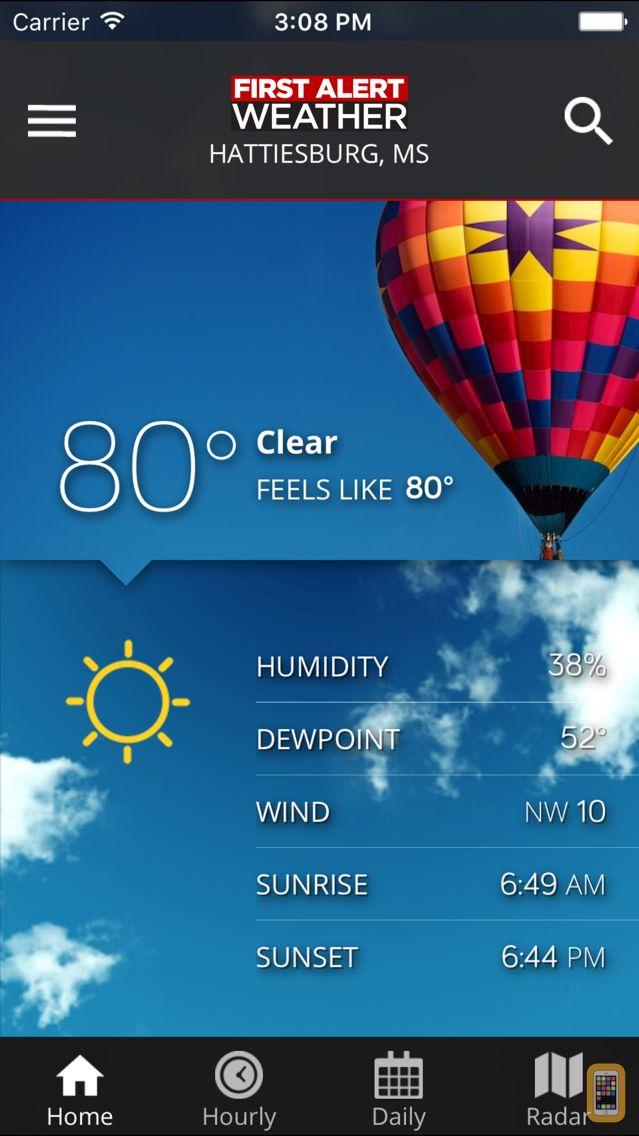 Screenshot - WDAM 7 First Alert Weather