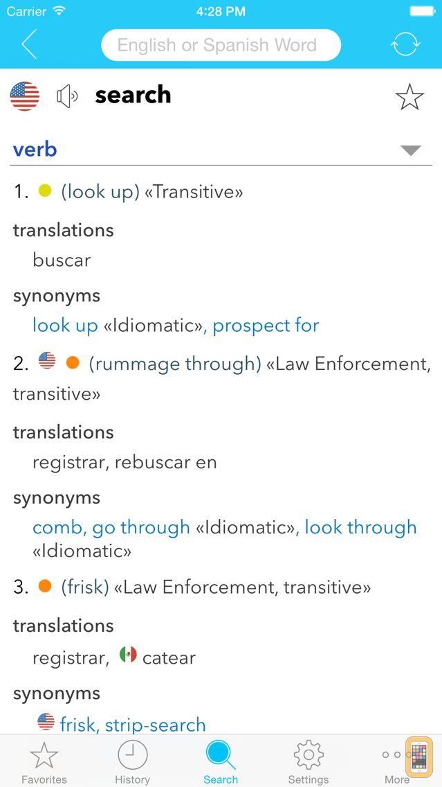 Screenshot - English Spanish Dictionary C.