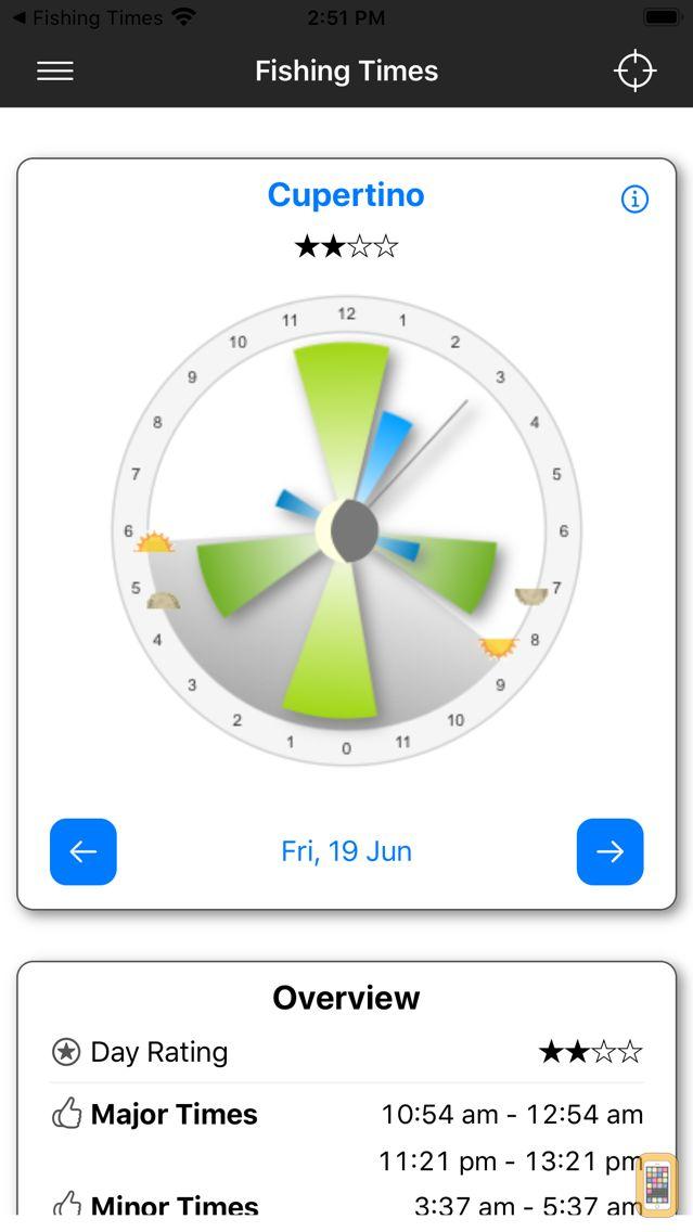 Screenshot - Fishing Times Calendar