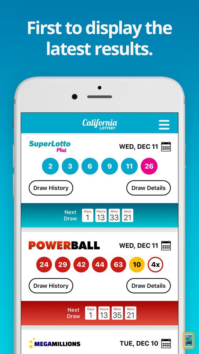 Screenshot - California Lottery