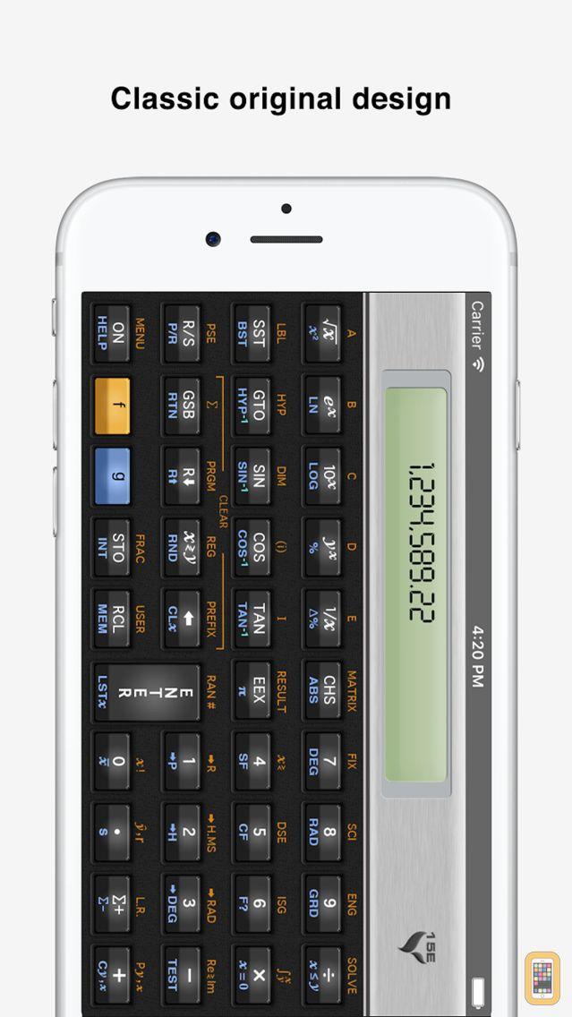 Screenshot - 15C Pro Scientific Calculator