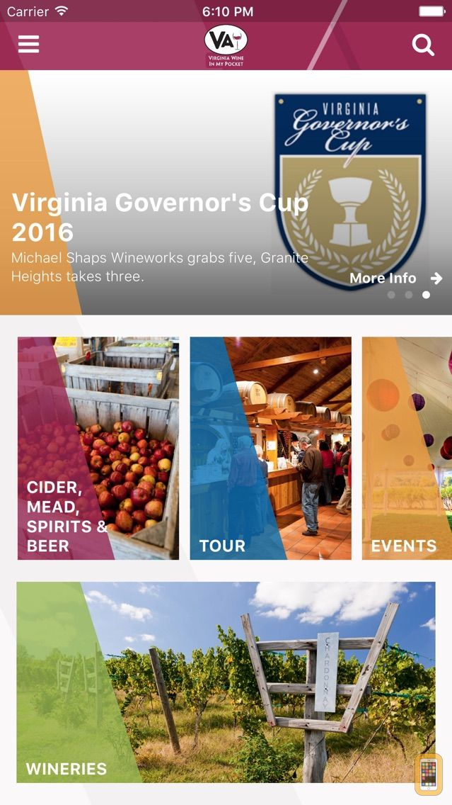 Screenshot - Virginia Wine In My Pocket