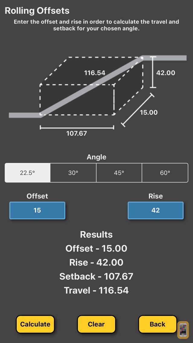 Screenshot - Pipe Offset Calculator