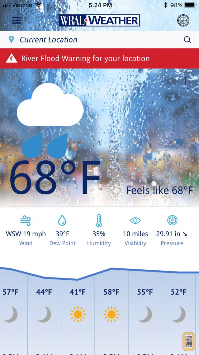 Screenshot - WRAL Weather
