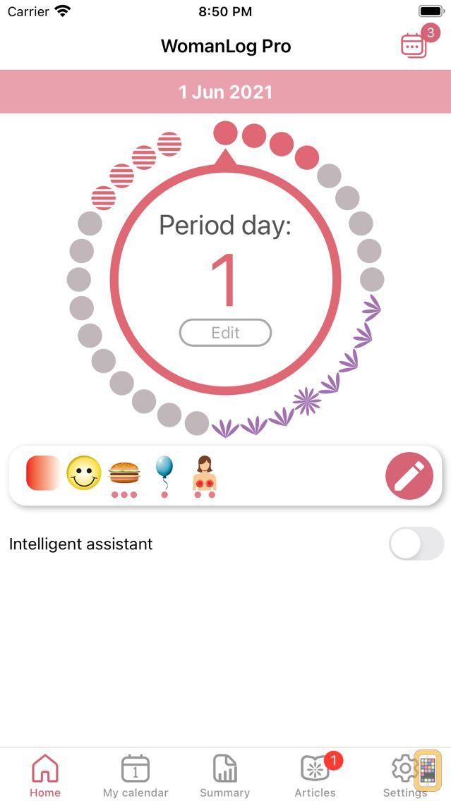 Screenshot - WomanLog Pro Calendar