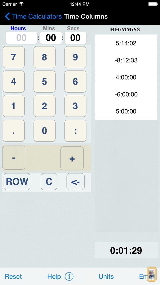 Screenshot - Time Calculator+