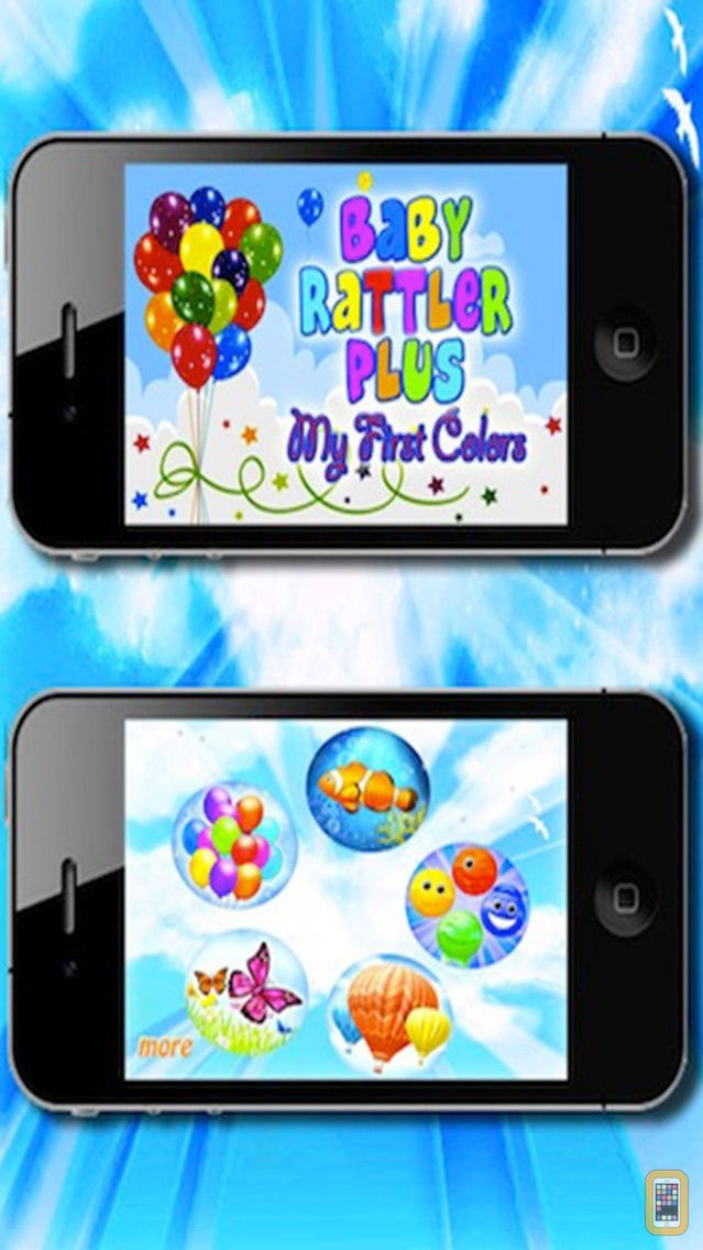 Screenshot - Baby Rattle Plus - My First Colors , with Balloons, Fish, Butterflies, Happy Faces and Hot Air Balloons  HD