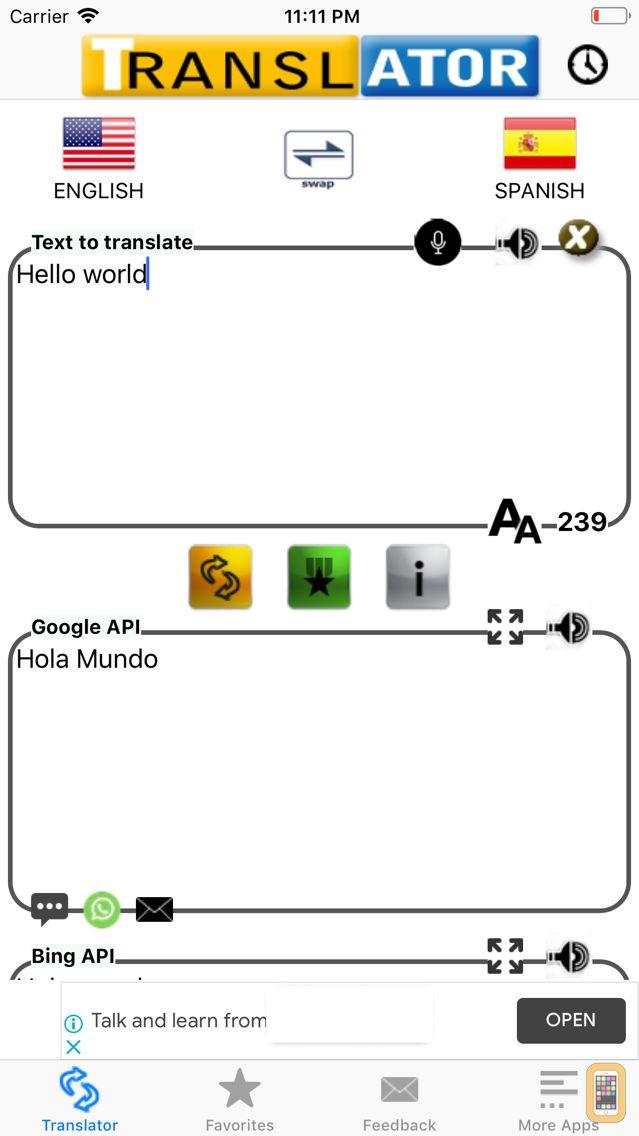 Screenshot - Spanish Translator Pro
