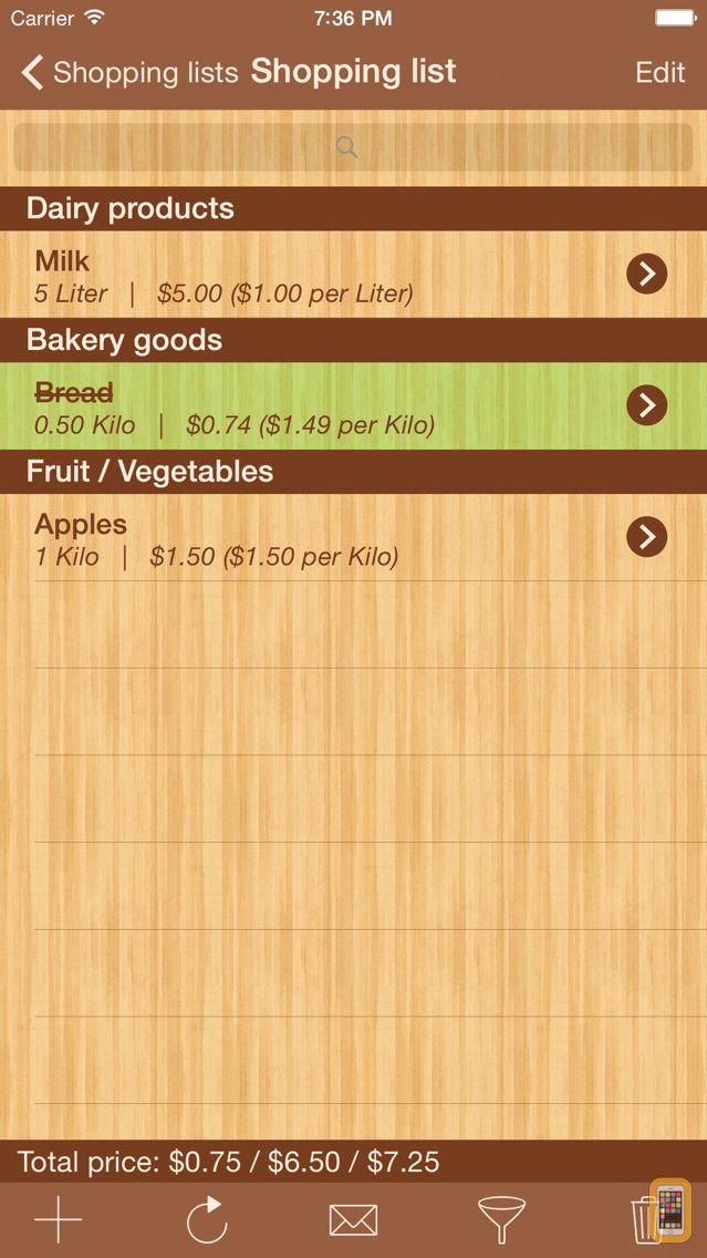 Screenshot - ShoppingList Pro Edition