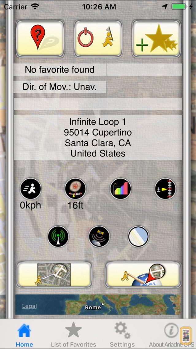 Screenshot - Ariadne GPS