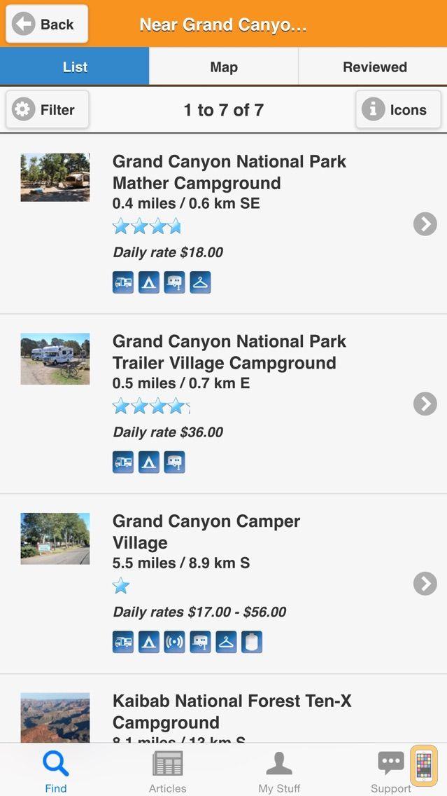 Screenshot - Camp Finder