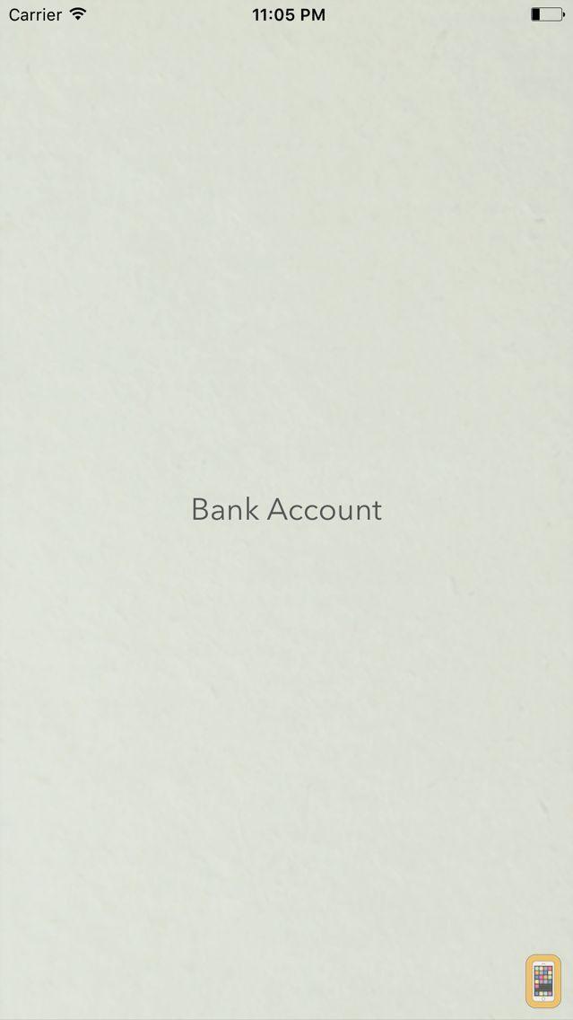 Screenshot - Bank Account