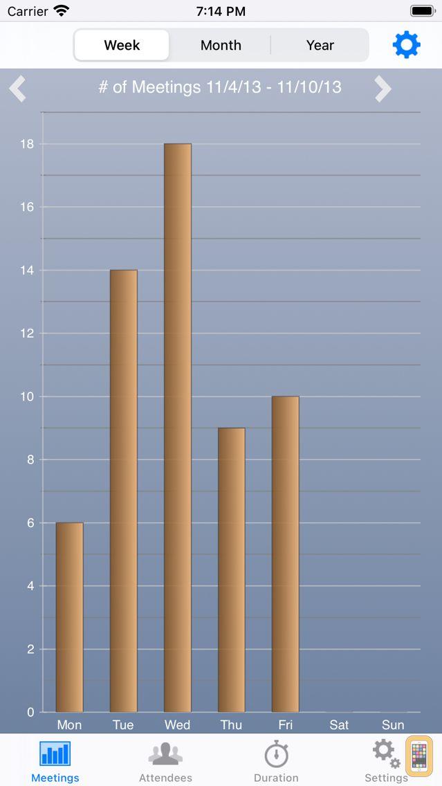Screenshot - Calendar Statistics
