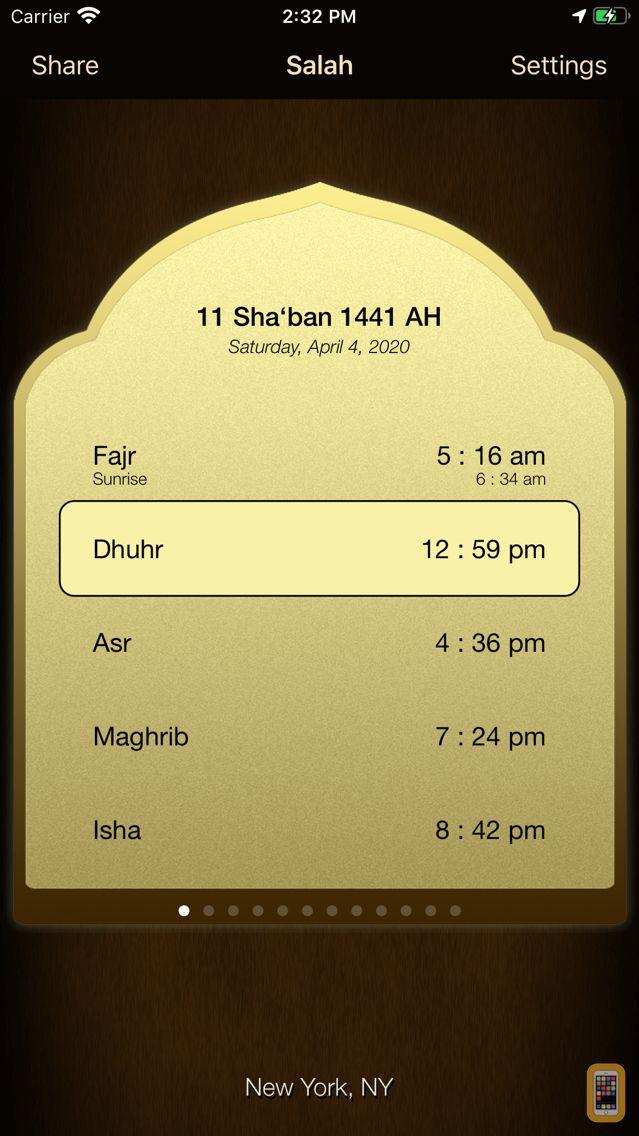 Screenshot - iSalam: Salah Times