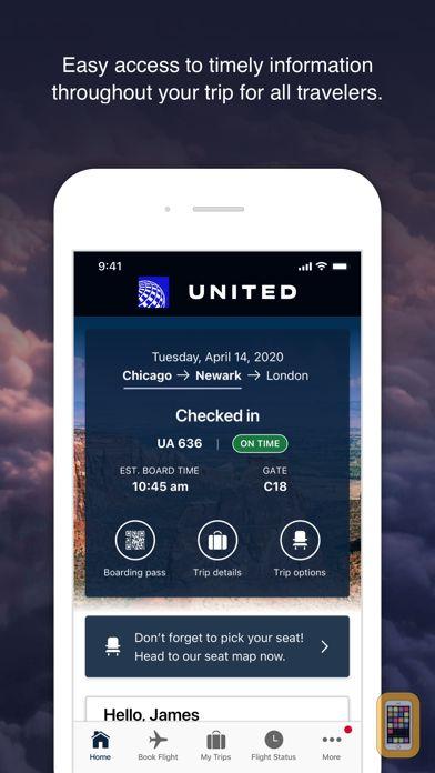 Screenshot - United Airlines