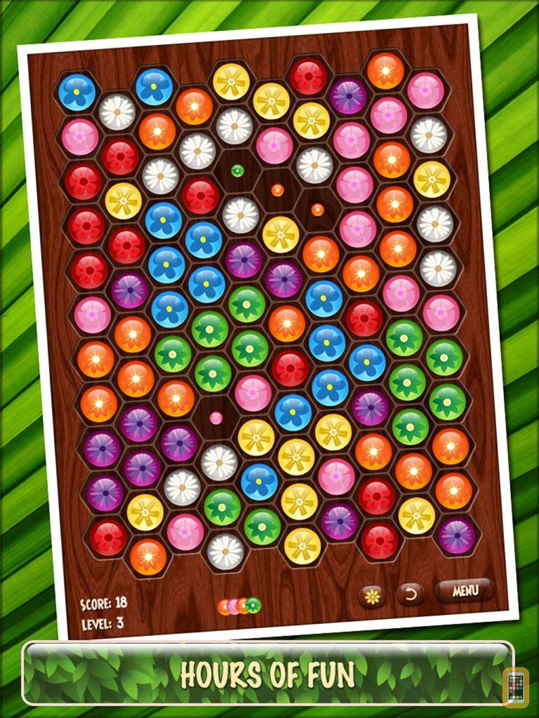 Screenshot - Flower Board HD - A fun & addictive line puzzle game (brain relaxing games)