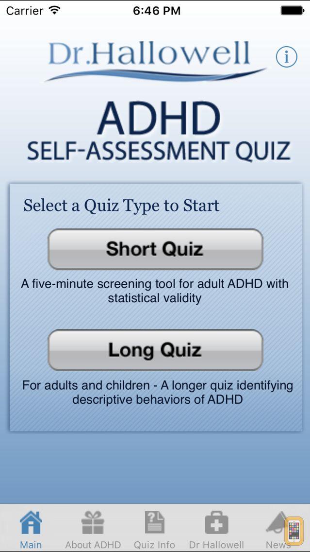 Screenshot - ADHD Quiz