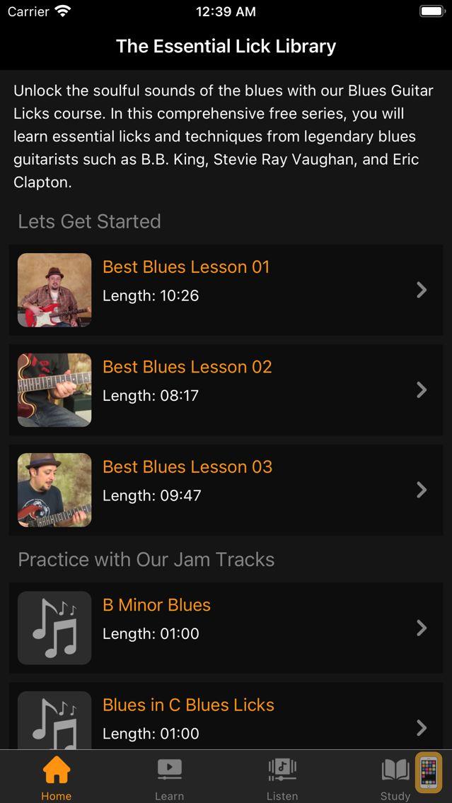 Screenshot - Blues Guitar Licks Lessons
