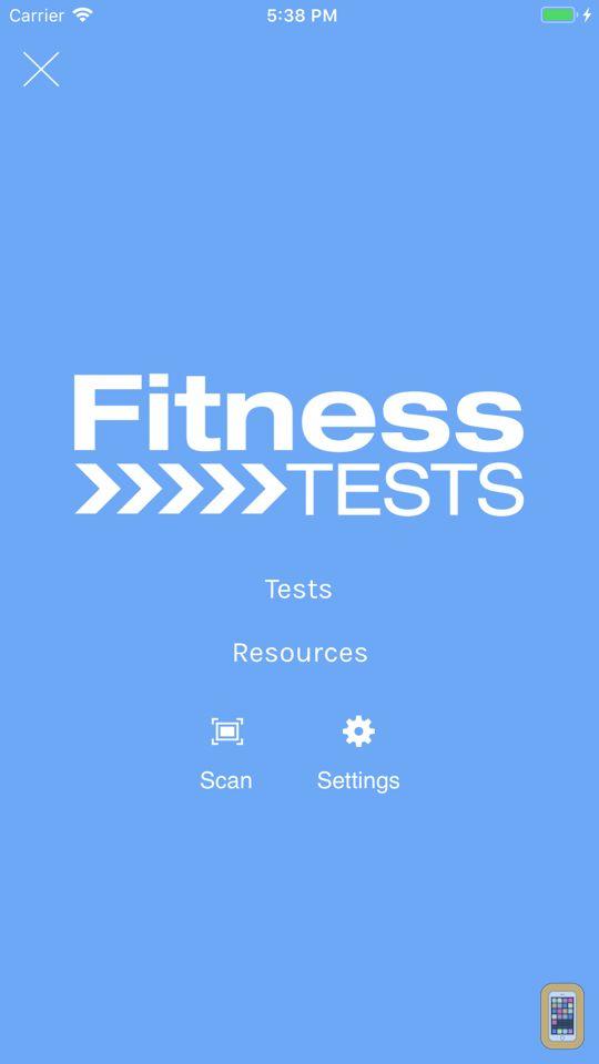 Screenshot - Fitness Tests