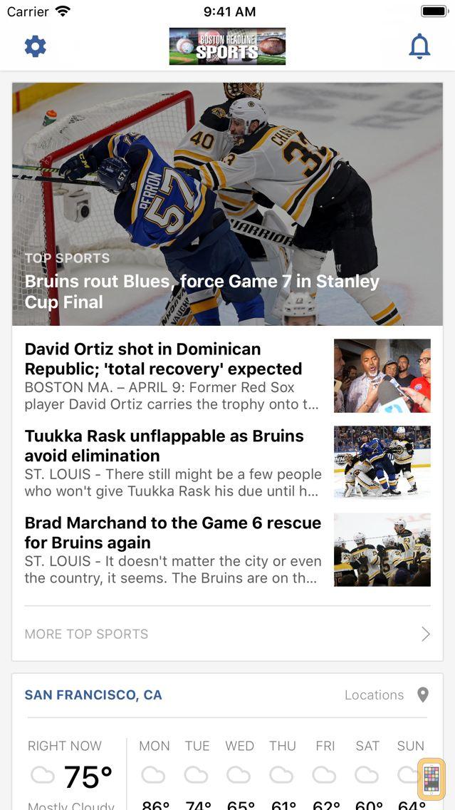 Screenshot - Boston Headline Sports