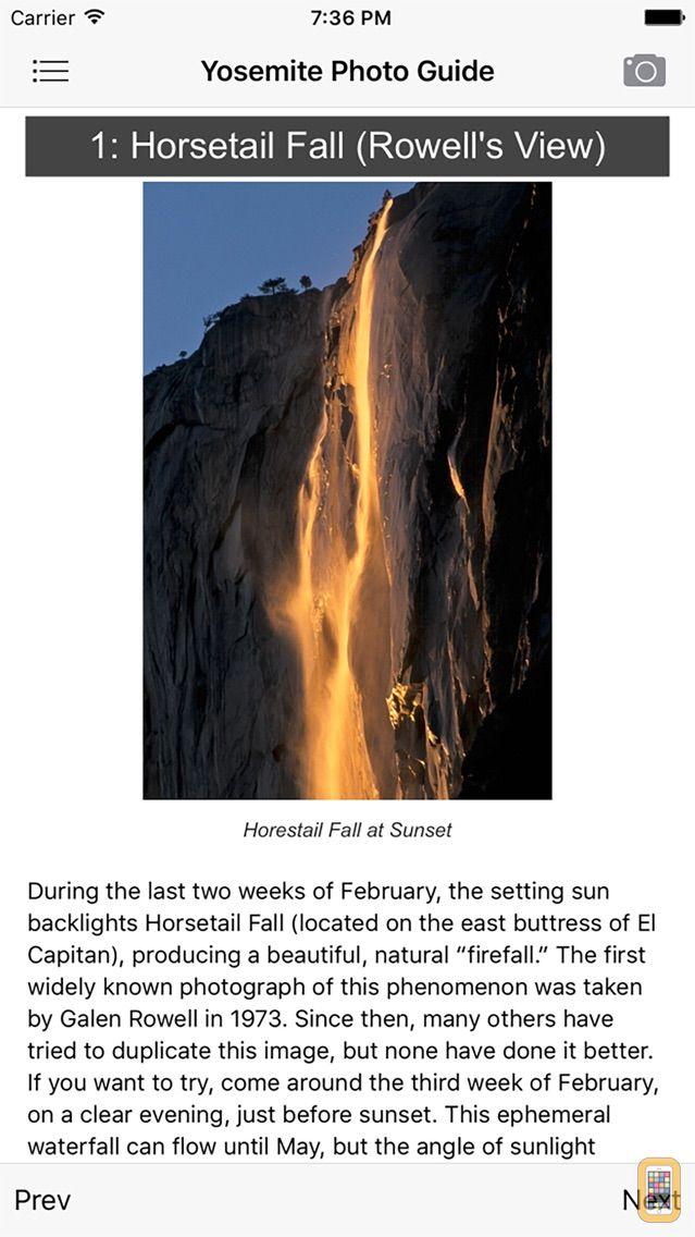 Screenshot - Yosemite Photographer's Guide