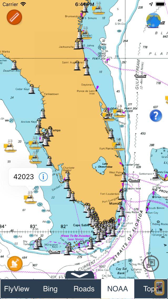 Screenshot - NOAA Buoys - Charts & Weather