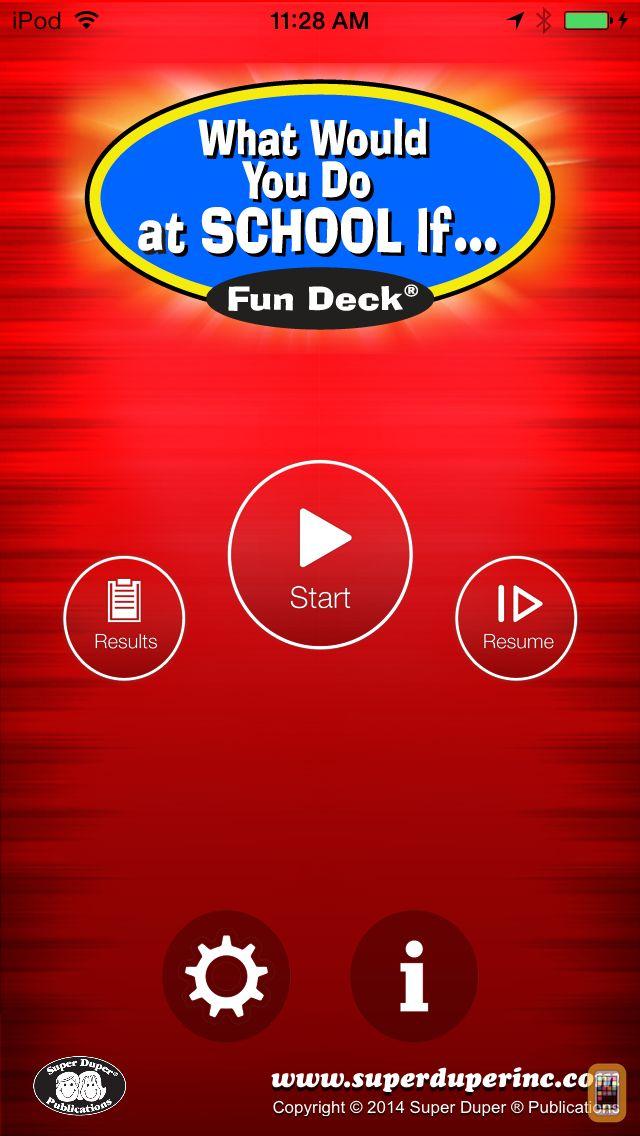 Screenshot - What Would You Do at School If Fun Deck