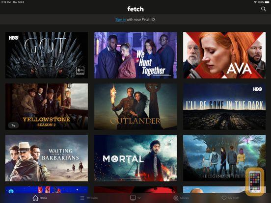 Screenshot - fetchtv remote