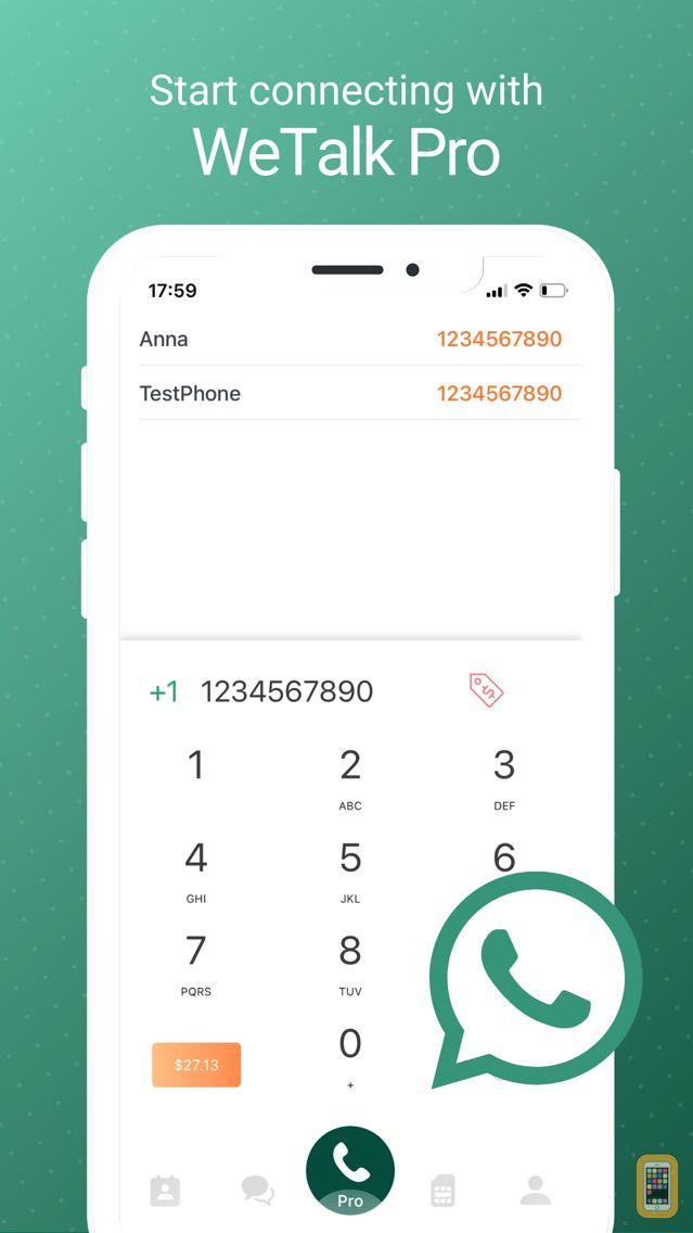 Screenshot - WeTalk Pro - WiFi Calls & Text