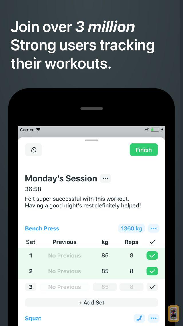 Screenshot - Strong Workout Tracker Gym Log
