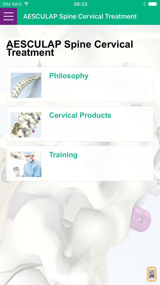 Screenshot - Aesculap® Spine Cervical