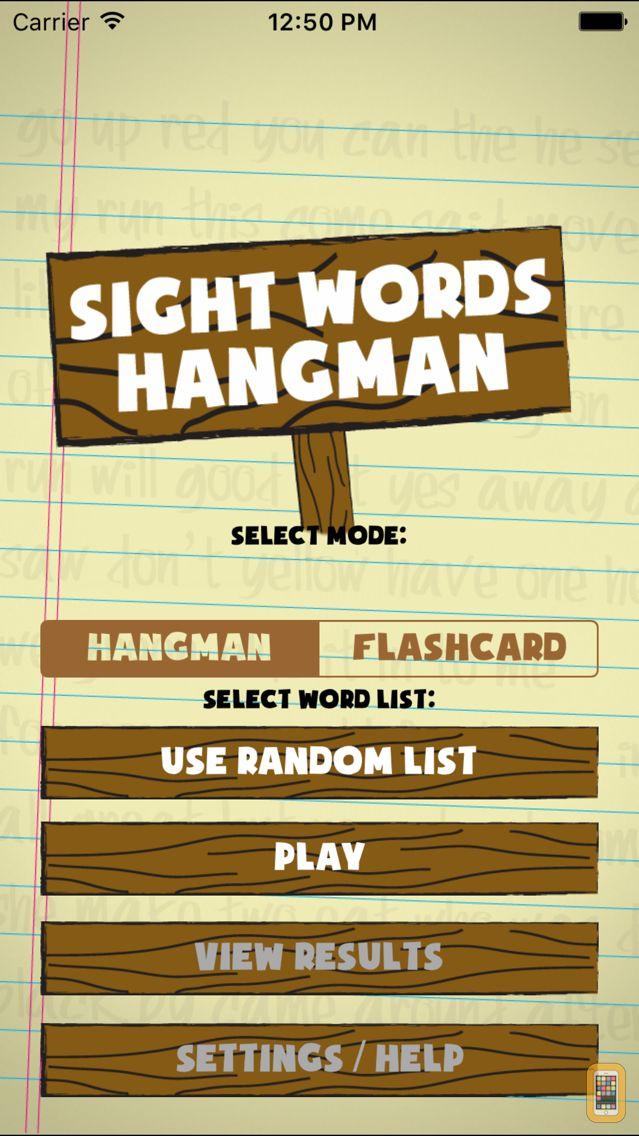 Screenshot - Sight Words Hangman