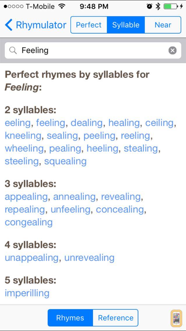 Screenshot - Rhymulator Rhyme Book + Editor