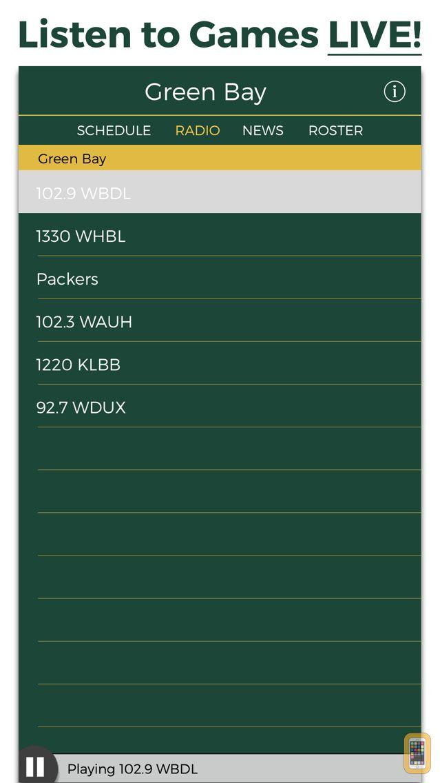 Screenshot - Green Bay Football Radio & Live Scores