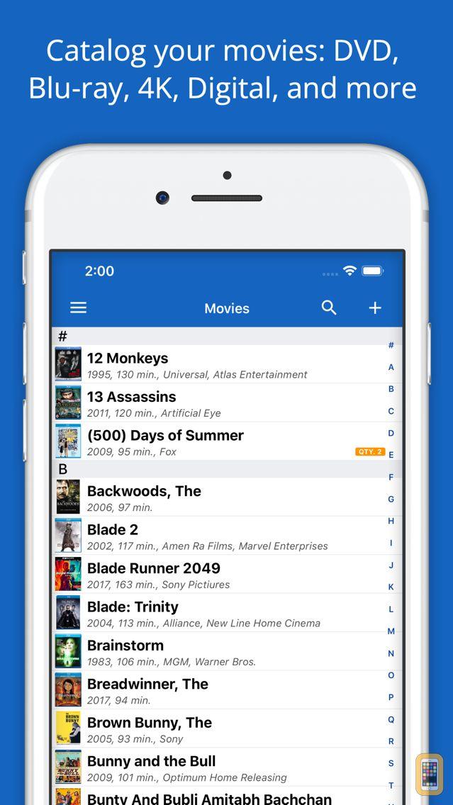 Screenshot - Movie Database: Blu-ray 4K DVD