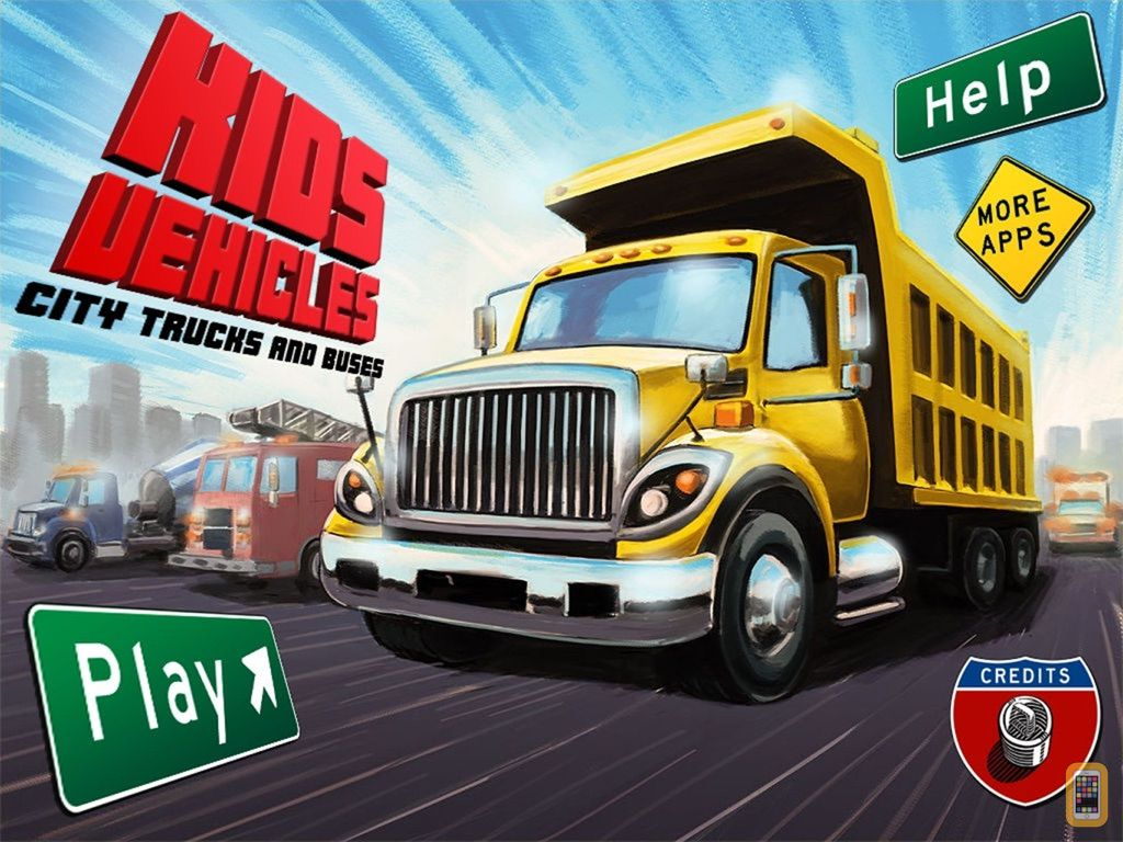 Screenshot - Kids Vehicles: City Trucks & Buses HD for the iPad