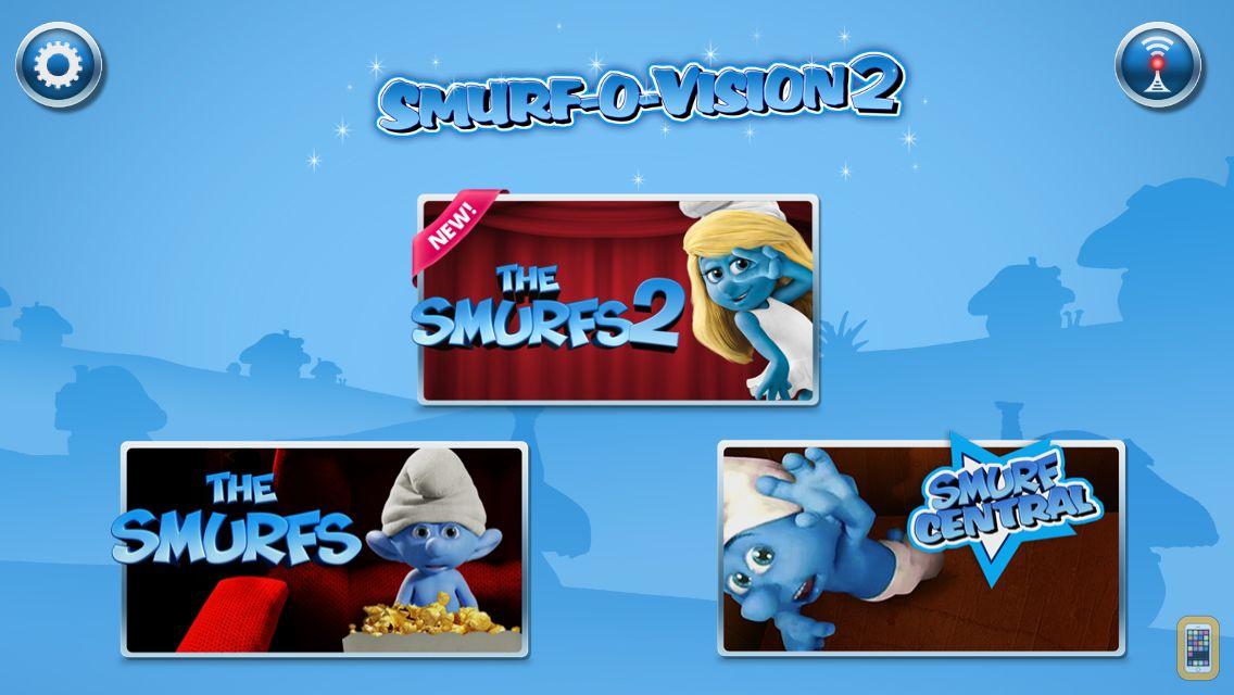 Screenshot - Smurf-O-Vision: The Smurfs Movie Blu-ray Second Screen Experience
