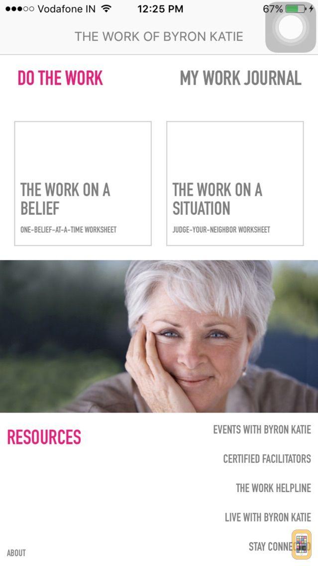 Screenshot - The Work App