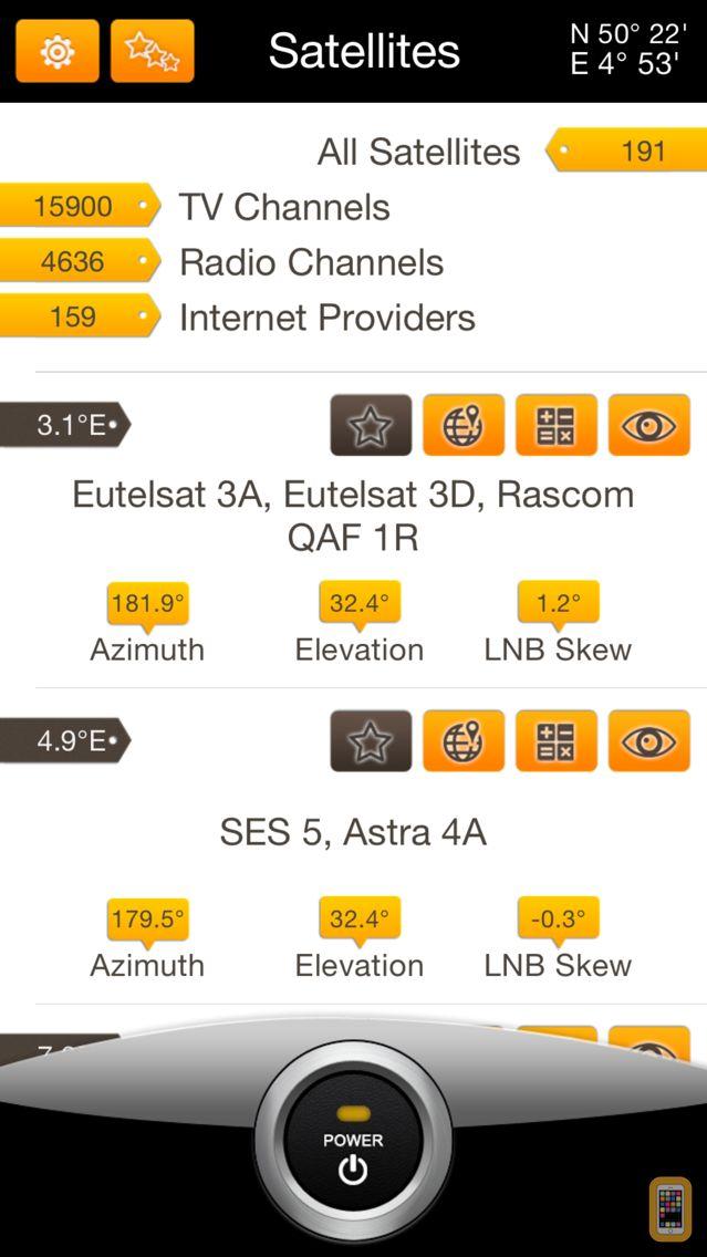 Screenshot - Satellite Transponders