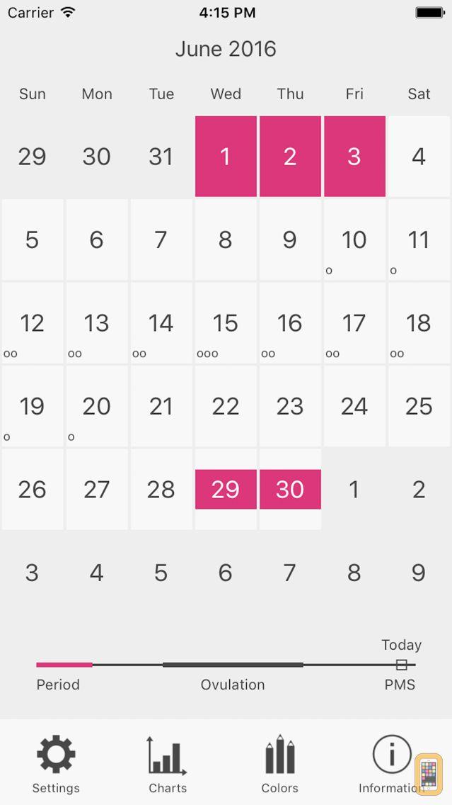 Screenshot - Menstrual Period Tracker Pro