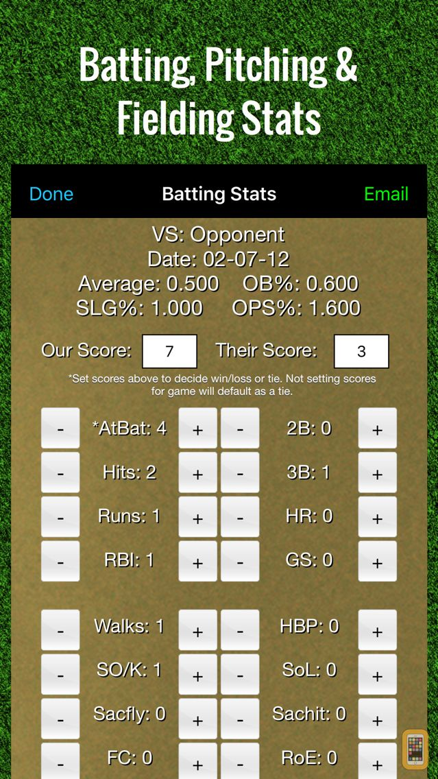 Screenshot - Baseball Stats Tracker Touch