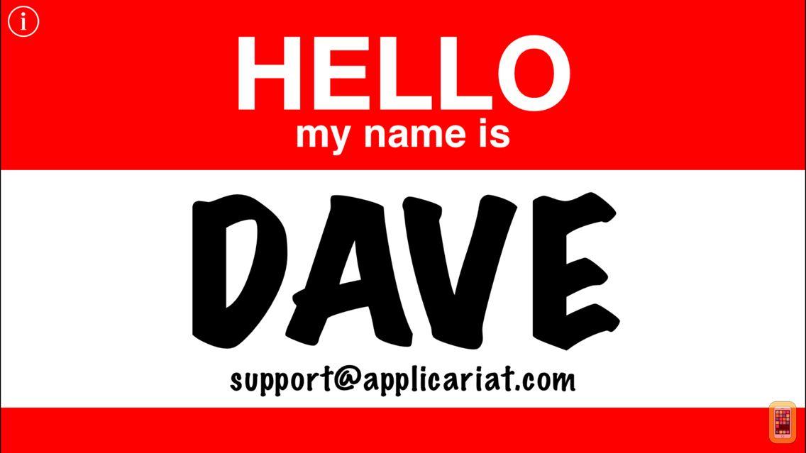 Screenshot - Hello Name Tag