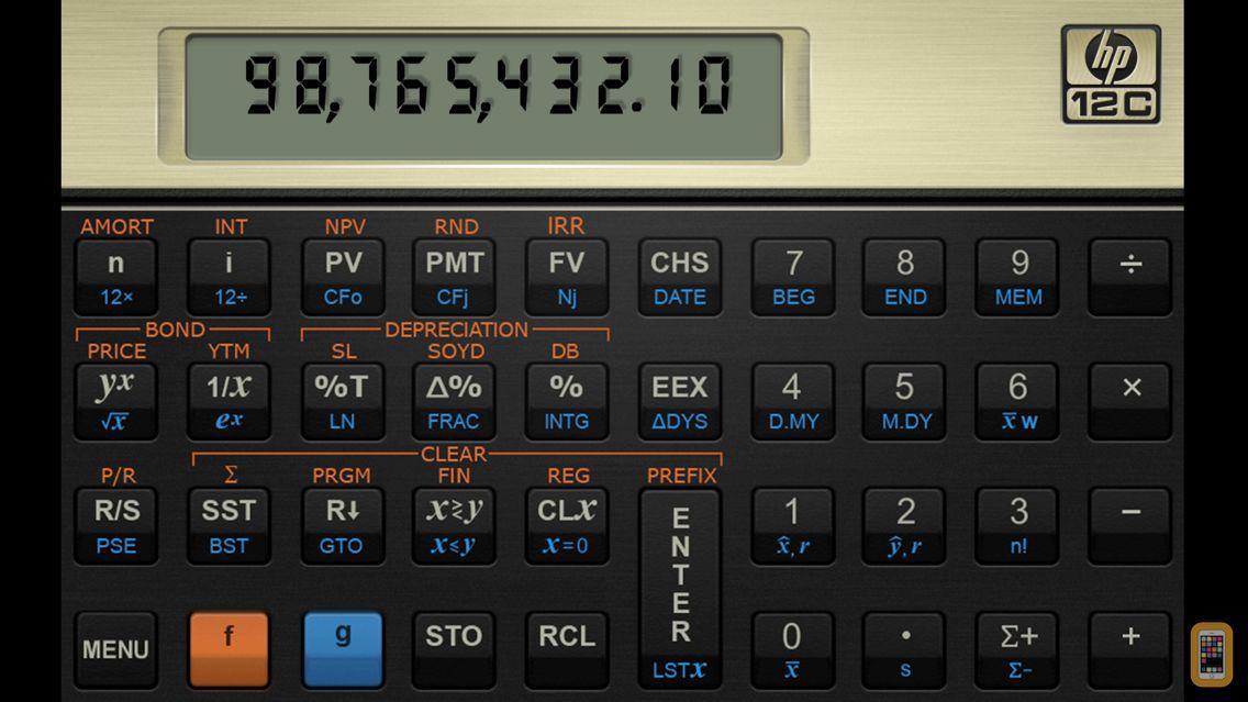 Screenshot - HP 12C Financial Calculator