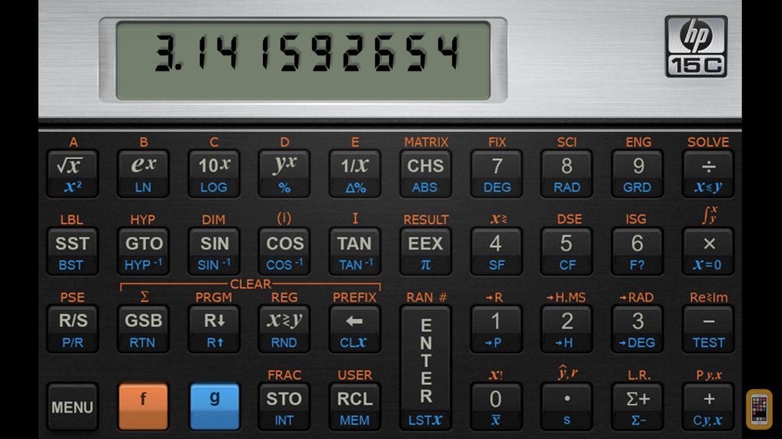 Screenshot - HP 15C Calculator