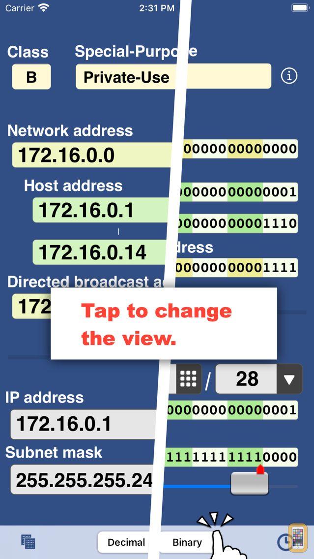 Screenshot - IP Keypad Pro - Subnet Calc