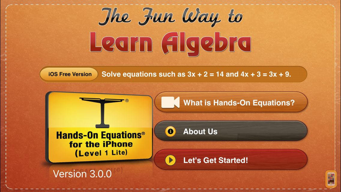 Screenshot - The Fun Way to Learn Algebra - FREE - Hands-On Equations 1 Lite