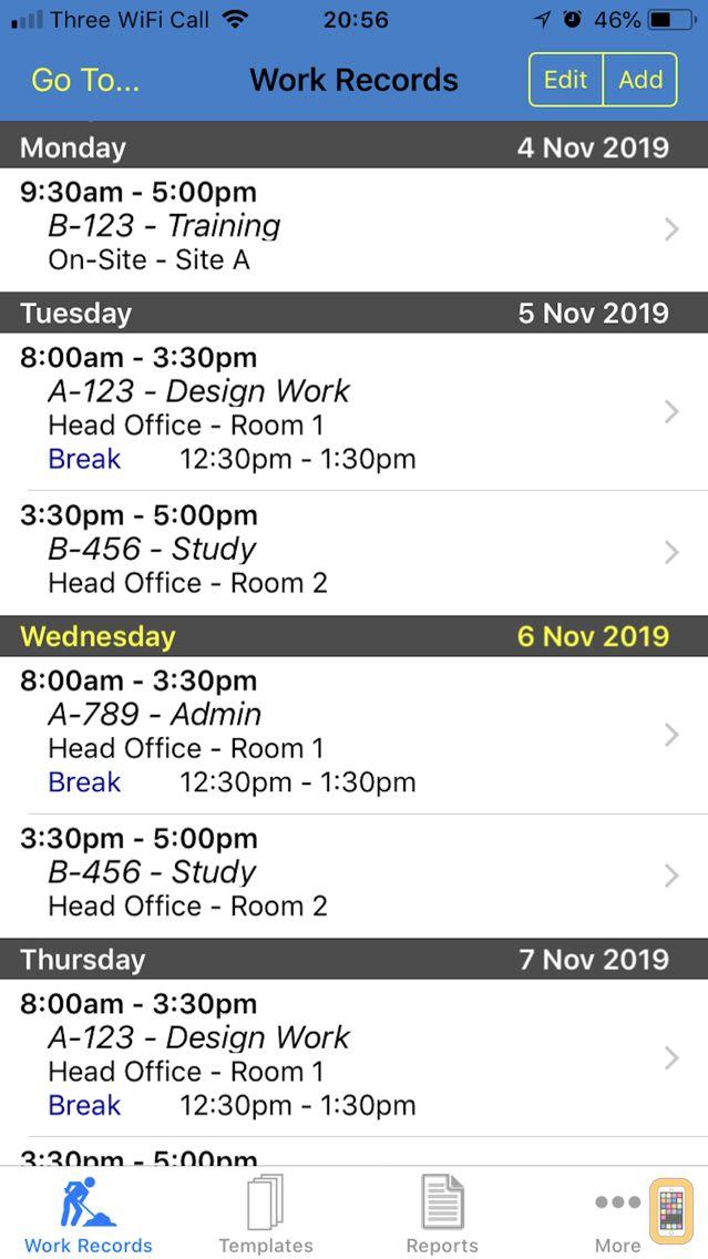 Screenshot - Work Diary Pro