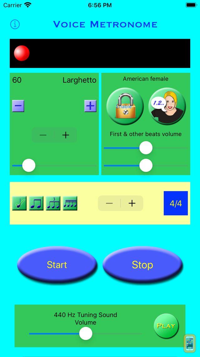 Screenshot - Voice Metronome - Multi-Lingual Edition